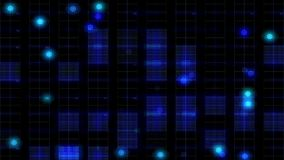 Blue grid light. Pulsing, blue grid with blinking lights stock footage