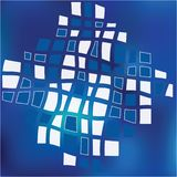 Blue Grid Mosaic Background Creative vector template stock illustration