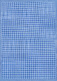 Blue grid paper. Sheet of blue graph or grid paper with fine white lines Stock Photo