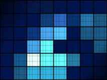 Blue grid pattern Royalty Free Stock Photos
