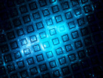 Blue grid in space Stock Photo