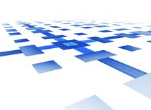 Blue grid on white Royalty Free Stock Images
