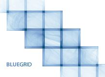 Blue grid on a white background Royalty Free Stock Image