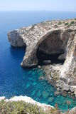 Blue Grotto. A view overlooking the coast of Malta and the famous Blue Grotto Royalty Free Stock Photos