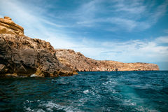 The Blue Grotto area Stock Image