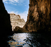 The Blue Grotto area Stock Photos