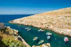 Blue Grotto boats, Malta Royalty Free Stock Photography