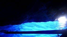 Blue Grotto, Capri, Italy. Inside the Blue Grotto, Island of Capri, Italy royalty free stock image