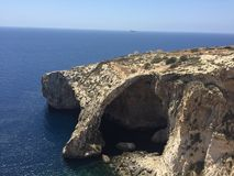 Blue Grotto Royalty Free Stock Images