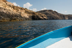 Blue grotto seen from a boat trip. Malta Royalty Free Stock Image