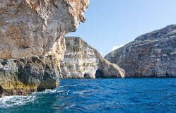 Blue Grotto coast Stock Images