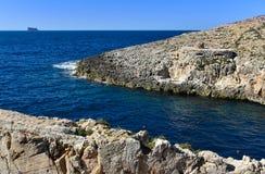 Blue grotto coast Malta Royalty Free Stock Photos