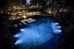 Blue Grotto Dive Resort at Night Stock Photography