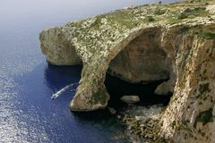 Blue Grotto, Gozo Island, Malta royalty free stock images