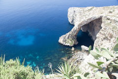 Blue Grotto, Gozo Island, Malta. Sightseeing of the Blue Grotto, a natural rock feature on the Island of Gozo, Malta Stock Photos
