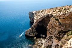 Blue Grotto, Malta. Blue Grotto, Natural coral  cave in Malta Stock Photo