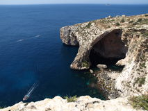 The Blue Grotto of Malta, Europe. The Blue Grotto of Malta - Landmark for its blue or azure waters Royalty Free Stock Images
