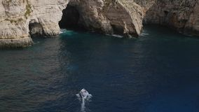 Blue Grotto stock footage