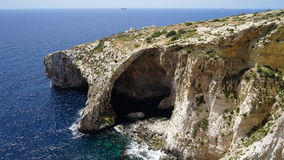 Blue Grotto, Malta. Blue Grotto, sea cave and natural rock on the island of the south coast of Malta in Europe Royalty Free Stock Images