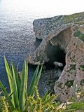 Blue Grotto, Malta. There are many natural wonders in Malta and many of them are accessed from the sea. One of these places is Blue Grotto, a natural grotto stock photos