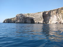 Blue Grotto. A picture from a boat Stock Images