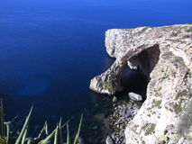 Blue Grotto's deep blue sea - Malta Royalty Free Stock Photo