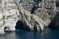 Blue Grotto seacoast, Malta Stock Photos