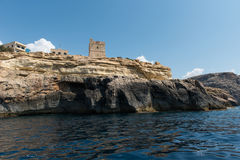 Blue grotto seen from a boat trip. Malta Royalty Free Stock Images