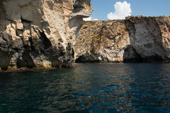 Blue grotto seen from a boat trip. Malta Stock Photography