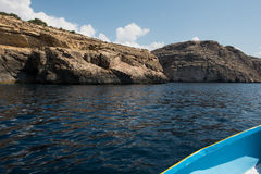 Blue grotto seen from a boat trip. Malta Stock Image