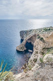 Blue Grotto on the southern coast of Malta. Stock Photos