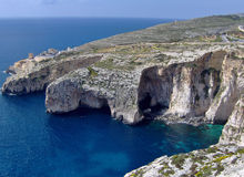 Blue Grotto in Winter - Malta Royalty Free Stock Images