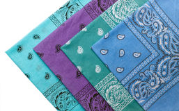 Blue group bandanas Stock Photo