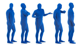 Blue: Group of Blue Men in Line Royalty Free Stock Photography