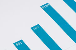 Blue growth graph Stock Photography