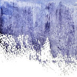 Blue grunge abstract watercolor wet spot Stock Images