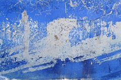 Blue grunge aged paint wall texture background Royalty Free Stock Photography