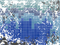 Blue grunge background. With blue squares and grunge elements Royalty Free Stock Photos