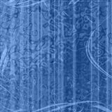Blue grunge background. With floral elements and stripes Royalty Free Stock Images