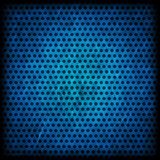 Blue grunge background of circle pattern Stock Photography