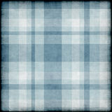 Blue grunge background with plaid pattern Stock Photos