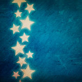 Blue grunge background with stars Stock Photos