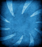 Blue grunge background with sun rays Stock Photo