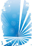 Blue grunge banner with white background. Clip-art Stock Illustration