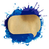 Blue Grunge Blob With Speech Bubble Stock Image