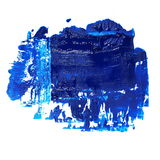 Blue grunge brush strokes oil paint isolated Royalty Free Stock Photography