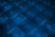 Blue grunge checkered marble pattern Royalty Free Stock Photo