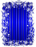Blue Grunge Christmas Frame Royalty Free Stock Images