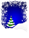 Blue Grunge Christmas Scene Royalty Free Stock Images