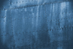 Blue  grunge dirt metal texture Royalty Free Stock Images